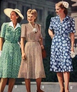Lovely ladies~  1940s Women Fashions