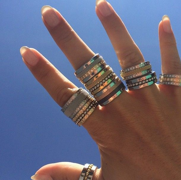 Arctic Symphony Collection by BERING; Ladies Rings; Ring Combinations; Twist & Change
