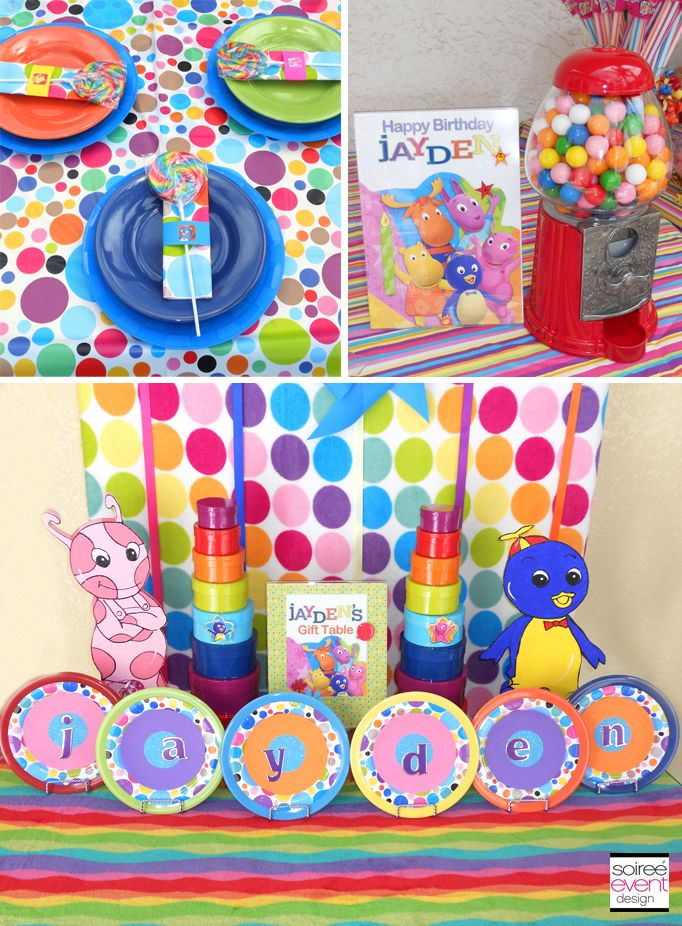 Backyardigans Candyland Party Theme. Mix Brightly Colored Patterns For A  Whimsical Look. Full Party