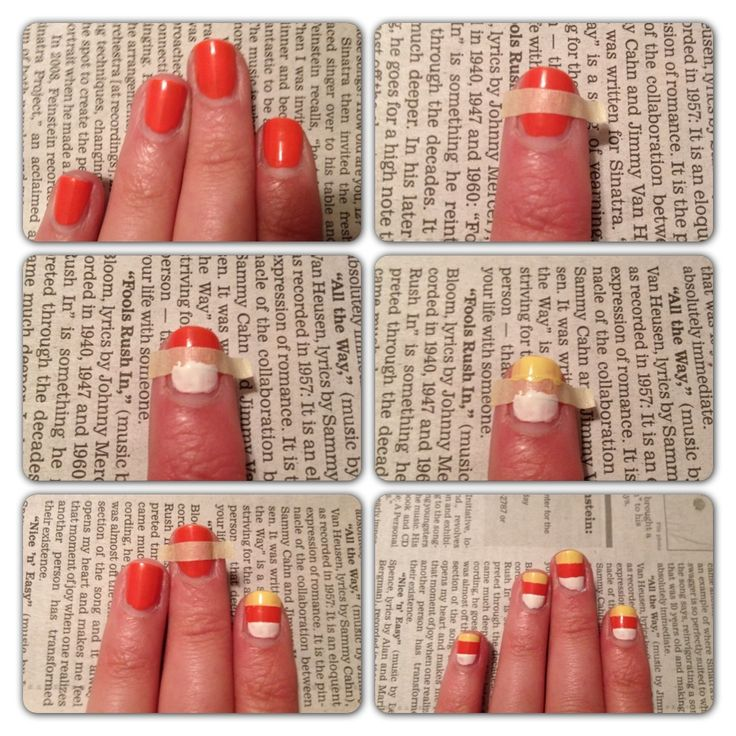 Nails that look like candy corn? Sweet! Talk about getting into the spirit of the season.
