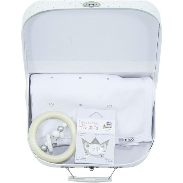"""Littlemico """"Welcome Suitcase gift set"""", white"""