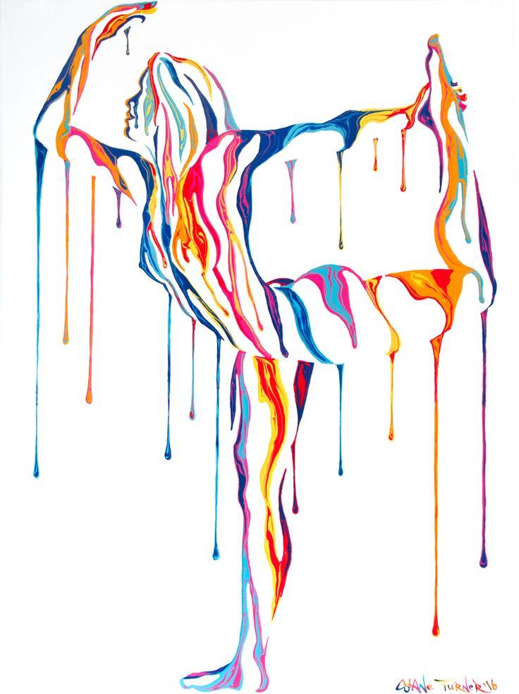 Psychameleon Transcendence 3.0 Acrylic Painting by Shane Turner