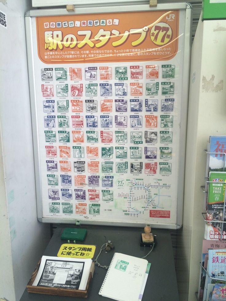 77 places in Tokyo to put stamps in the subway station