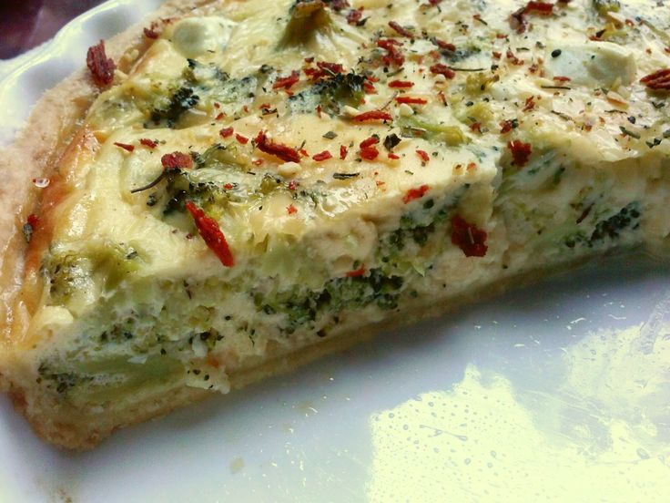 Pampuchy - wszystko o gotowaniu: Quiche z brokułami i serem feta