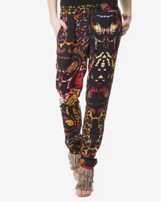 Pantaloni Desigual dama colorati tip salvari