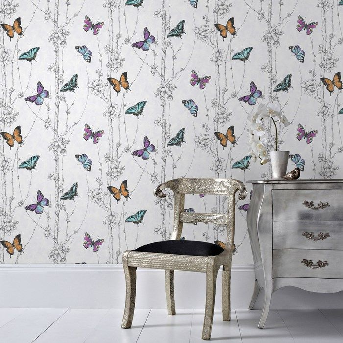 Designer Wallpaper, Wall Art & Paint | Graham & Brown | Graham & Brown This would be lovely for a young girls room, feature wall