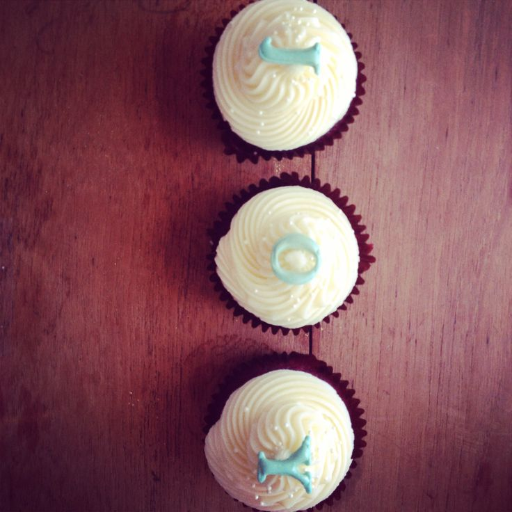 Letter cupcakes from The Birdcage, Stellenbosch