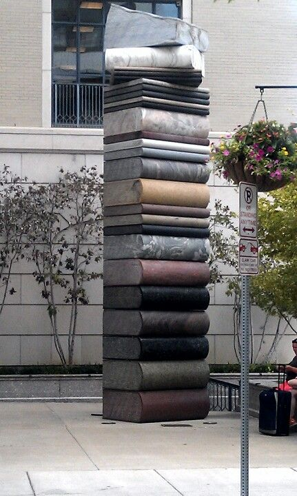 Public art at Nashville Public Library....it would be so great to make something lie this for my yard.