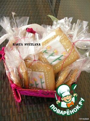 Праздничное подарочное печенье