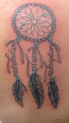 dreamcatcher tattoo with names - Google Search