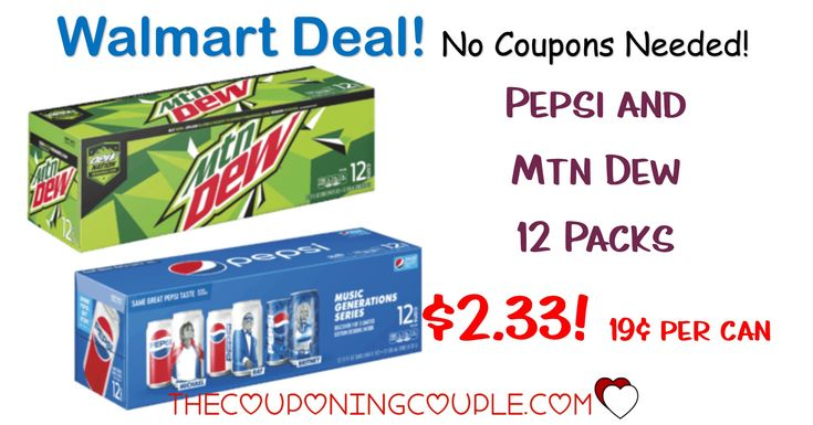 New sale pepsi and mtn dew 12 packs cans 263 each
