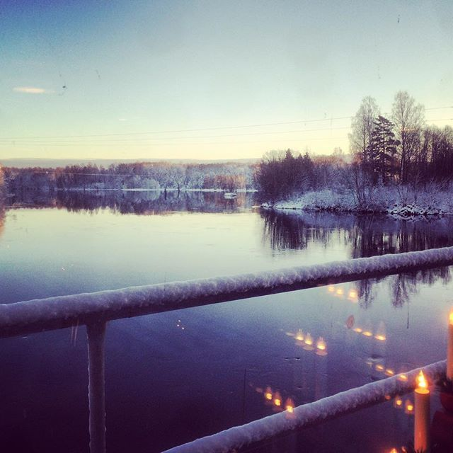 Breakfast view from the factory restaurant in Forshaga, Stora Enso. Pretty nice!