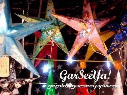 Paper lantern stars.GarSeeYa Paper Works.