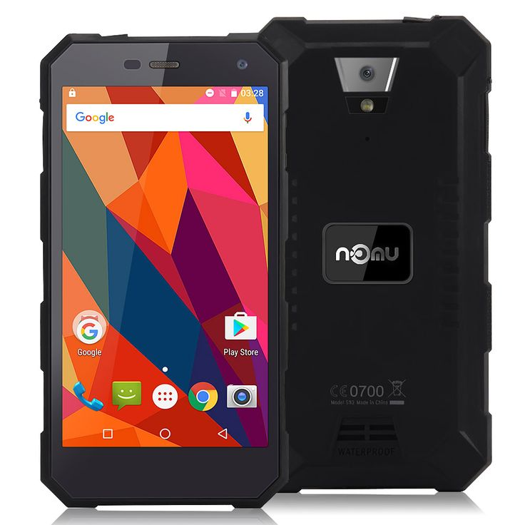 [HK Stock]NOMU S10 IP68 Waterproof 5.0inch HD Android 6.0 4G LTE Rugged Phone MT6737T Quad-core 1.5GHz 2GB 16GB 13.0MP 5000mAh Battery OTG - Black