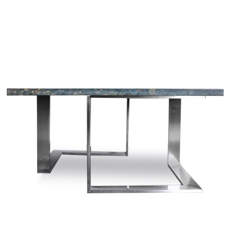 Mid+Century+Stainless+Steel+%26+Marble+coffee+table++at+DecorNYC