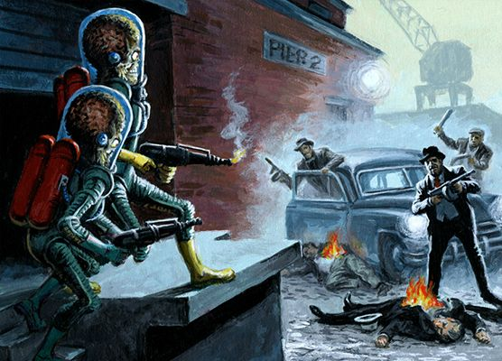Mars Attacks Invasion | 2013 Topps Mars Attacks Invasion Gangsters Image