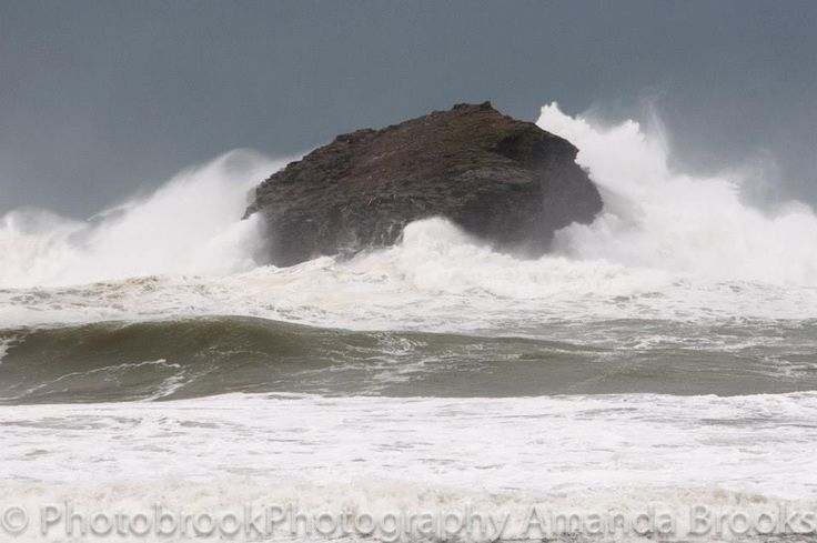 Portreath island during storms