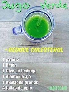Jugo Verde Reduce colesterol
