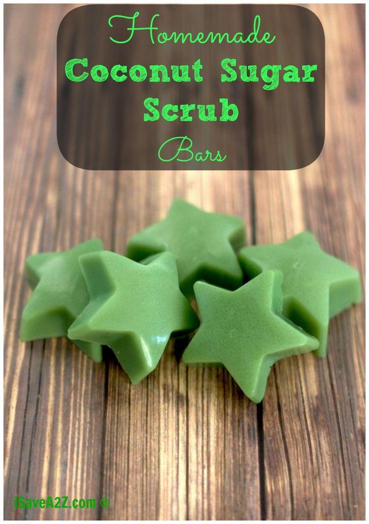 Easy Homemade Coconut Sugar Scrub Bars