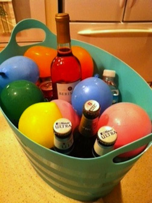 Fill balloons with water, freeze and use and reuse them instead of ice! Great idea for kid's parties, too.