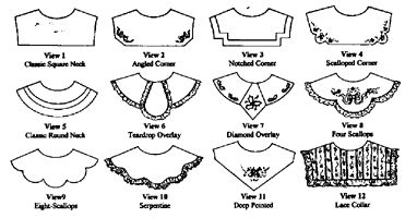 collar pattern - Google Search
