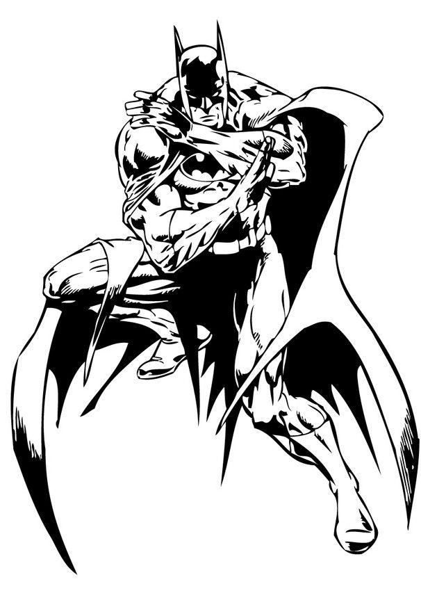 Best 25 Batman coloring pages