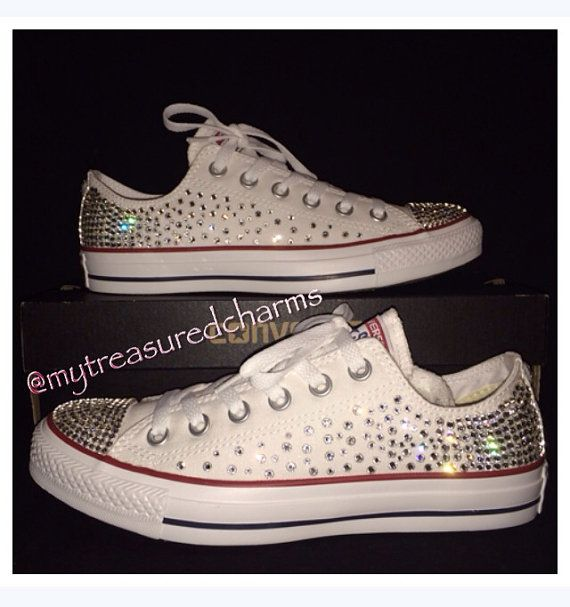 Hey, I found this really awesome Etsy listing at https://www.etsy.com/listing/193452996/womens-swarovski-converse-chuck-taylor
