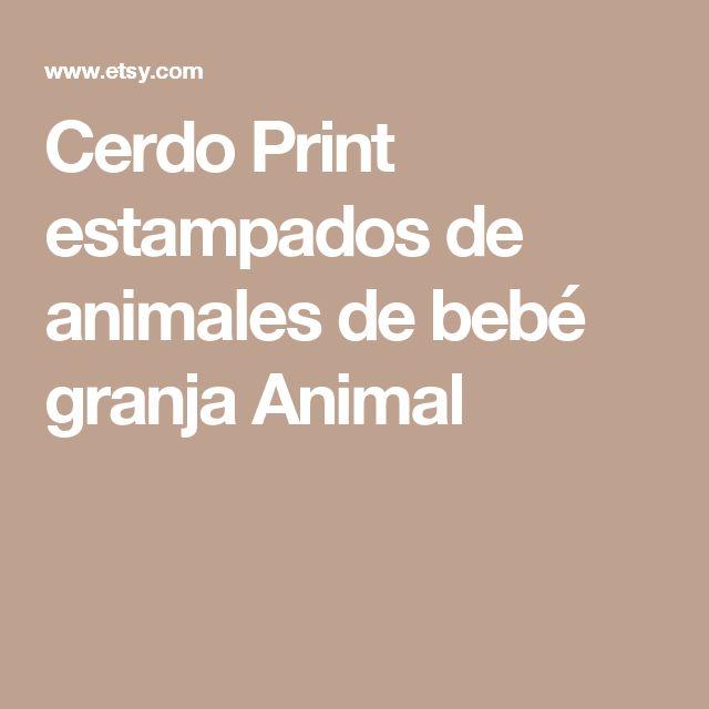 Cerdo Print estampados de animales de bebé granja Animal