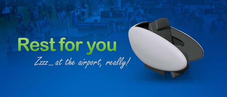 A comfortable and secure solution for short time rest at airports and other monitored spaces.