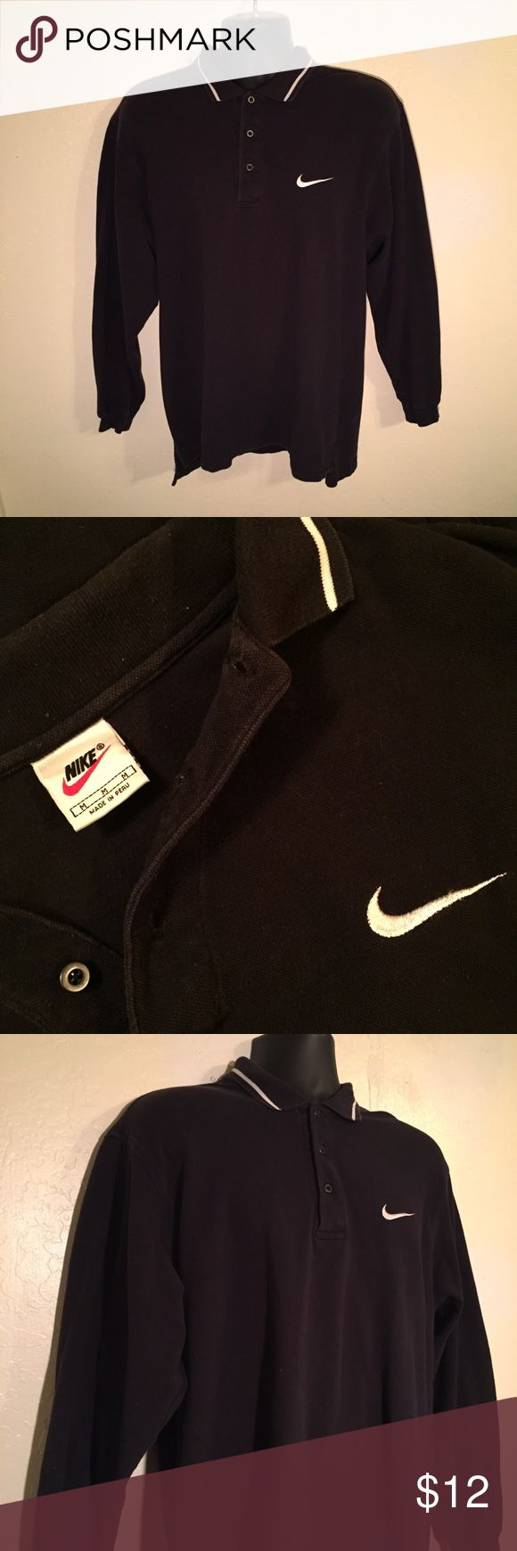 ✔️ NIKE Vintage 90s Style Sport Polo Shirt M 💥 Barely Worn athletic style Nike Polo with iconic Nike embroidery! No stains, no rips, no tears! 90s vintage piece. Nike Shirts Polos