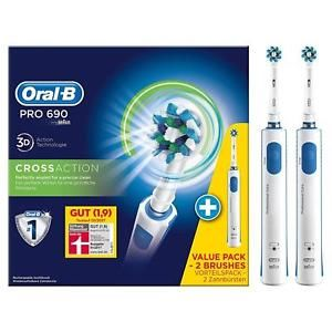 a oral b pro 690 cepillo dental oscilante azul color blanco de dientes