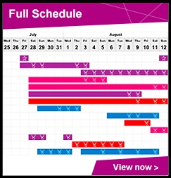Full Schedule of The London Olympics 2012
