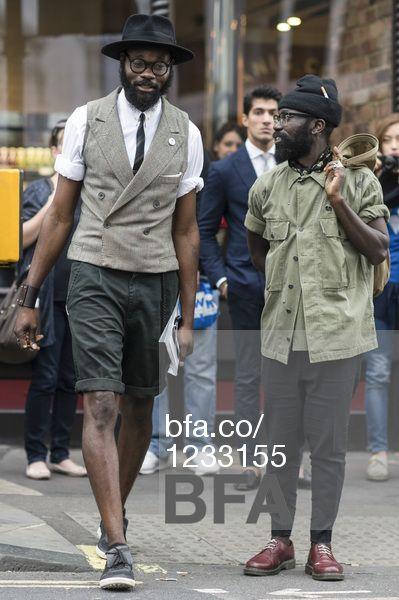 Sam Lambert, Shaka Maidoh at LONDON FASHION WEEK #LFW Street Style #GapxBFA - DAY TWO. #BFAnyc