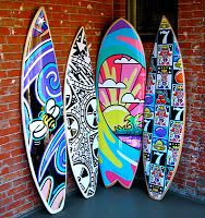 The Art of Chuck Trunks: TRUNKS ART Surfboard Project is featured in The ACORN Newspaper!