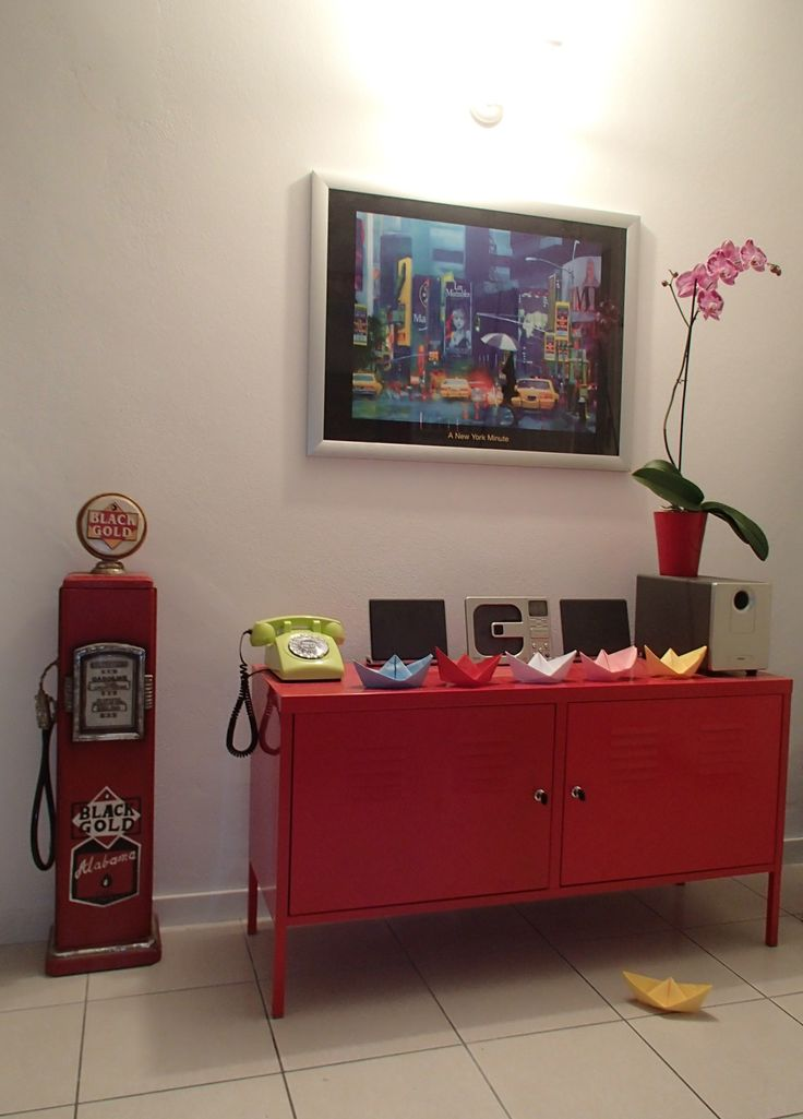 A dining room corner with Ikea PS cabinet, Bergamo, Italy - archiLAURA Home Design