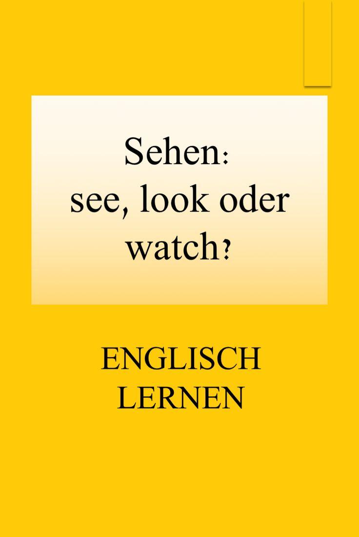 Schauen Englisch
