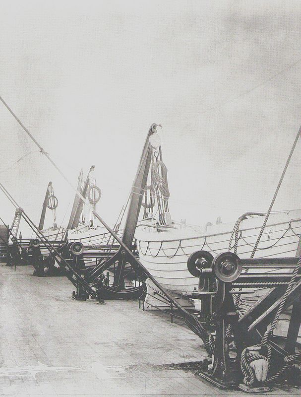 Lifeboats on the Titanic