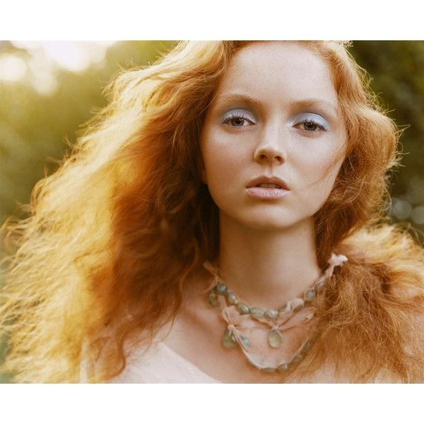 Morning Beauty Lily Cole by Carter Smith ❤ liked on Polyvore featuring models, backgrounds, pictures, faces and editorials