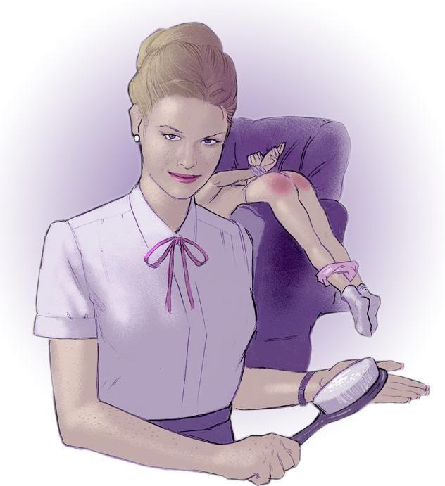 free Femdom spanking hairbrush