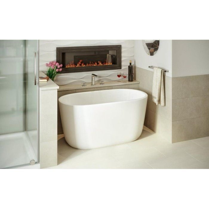 The lullaby nano is Aquatica's take on creating a small deep bathtub that is ideal for a small and space conscious designed bathroom, yet still modern. Smaller than the original and the lullaby mini, this lullaby nano is the smallest version in Aquatica lullaby series. This model is a chic but small soaking tub that still has an extra deep interior, ideal for a full-body soaks, and its ergonomic design is made to provide ultimate comfort. The solid matte surface of the lullaby's AquateX…