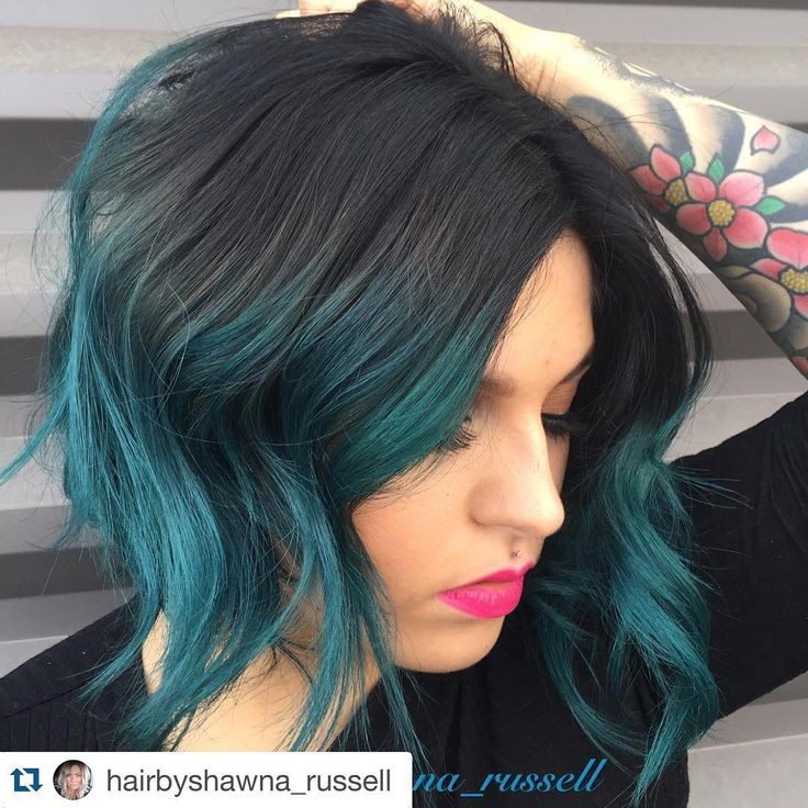 Fun teal dipped hair.  #nofilterhaircolor  #Repost @hairbyshawna_russell with…