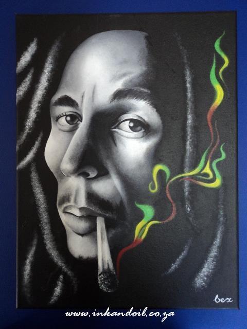 Bob Marley  Acrylic painting on Canvas