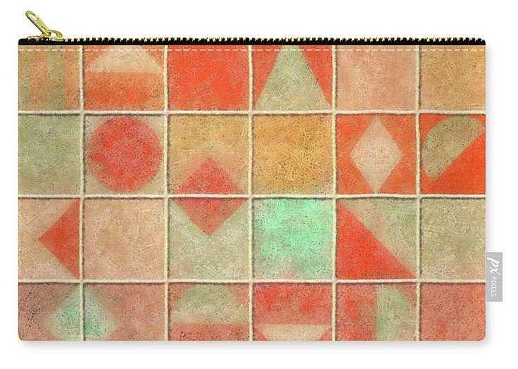 Geometric Carry-all Pouch featuring the painting Geometric Pastel by Grigorios Moraitis