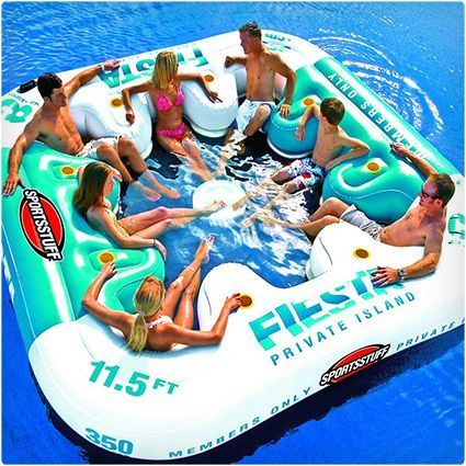 Summer Party in the Water with Fiesta Island Floating Lounge - would