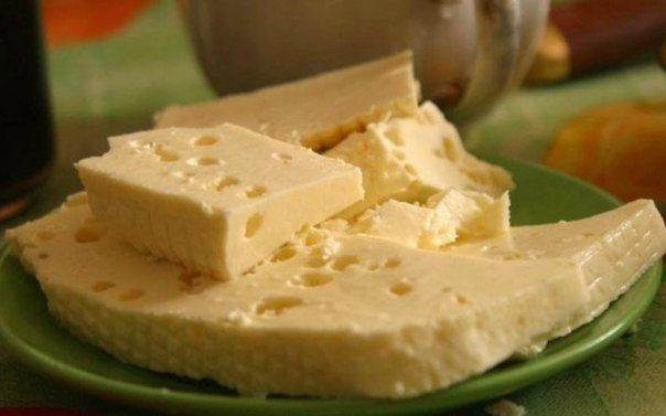 Домашний сыр из молока, сметаны, и яиц