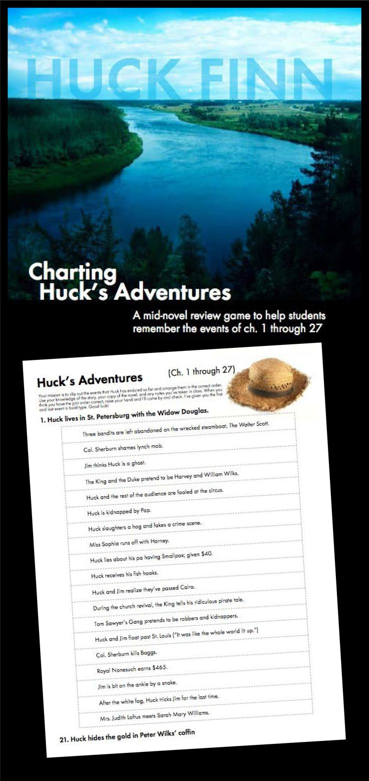 1000 images about adventures of huckleberry finn your class is half way through your study of the adventures of huckleberry finn and you want to liven things up a bit take a break from literary analysis