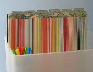 tickler Datei Papierkrempel organisieren