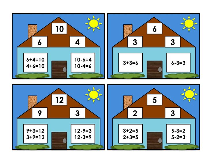 Number Names Worksheets » 1st Grade Math Fact Families - Free ...