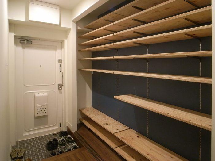 可動収納棚、木製ガラス引き戸事例3                                                                                                                                                      もっと見る