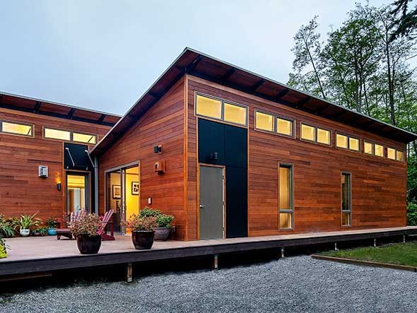 A blu home on vashon island wa favorite places spaces for Prefabricated homes seattle